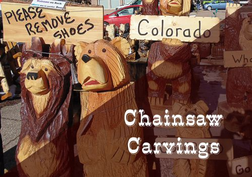 Chainsaw Carvings in Cascade, Colorado