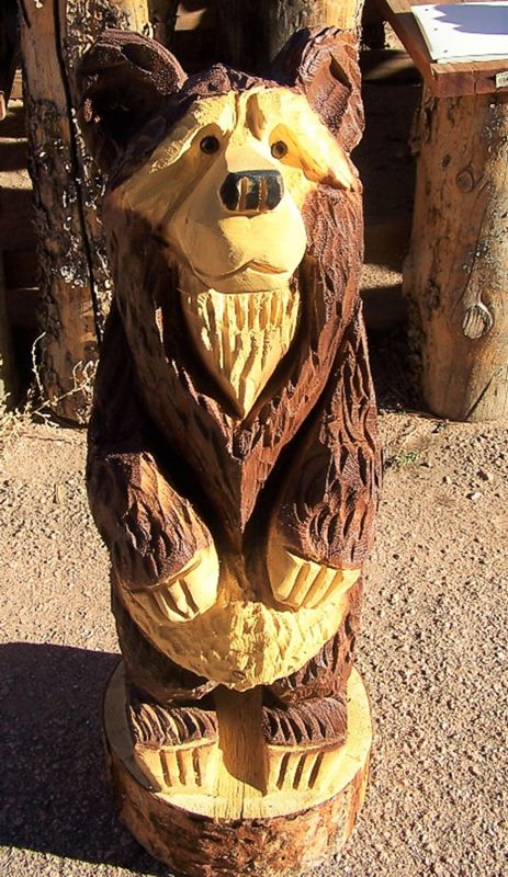 Chainsaw carvings hand carved bears cascade colorado