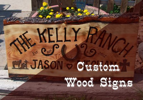Customized Wood Signs in Cascade, Colorado